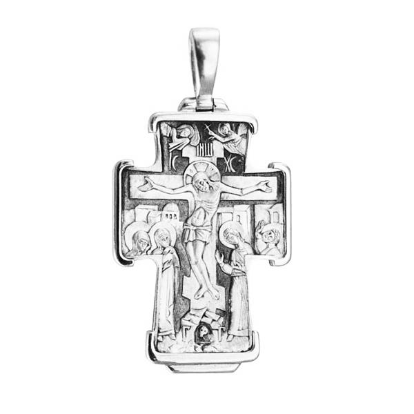 8603, Крест Православный из белого золота, 7440, 89 000.00 р., 7440, , 3D Модели Православных нательных крестов