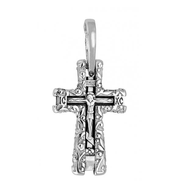 8608, Крест Православный из белого золота, 7445, 43 000.00 р., 7445, , 3D Модели Православных нательных крестов