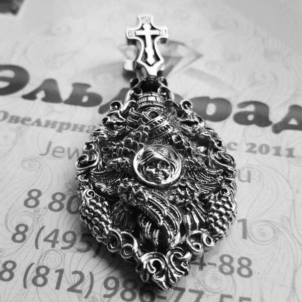 """Золотая нательная икона """"Шестикрылый Серафим"""""""