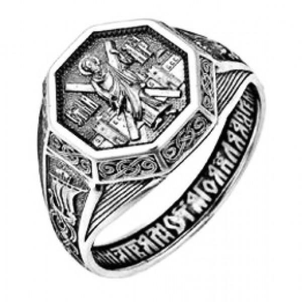 Кольцо из платины с молитвой