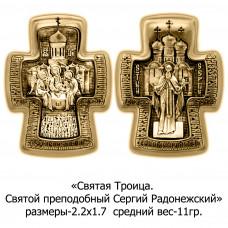 Православный крест со Святой Троицей и Святым преподобным Сергием Радонежским.