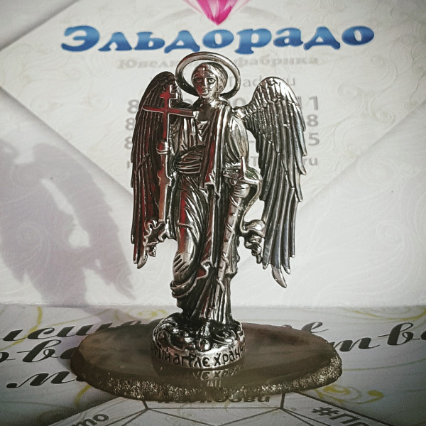 """Православная статуэтка """"Ангел-хранитель"""" из серебра"""