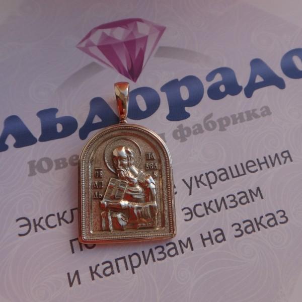 Эксклюзивная православная Икона Святого Апостола Петра из жёлтого золота ручной работы