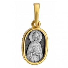 """Икона нательная из комбинированного золота """"Святая Анна"""""""