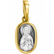 """Икона нательная из комбинированного золота """"Святая мученица Анастасия"""""""