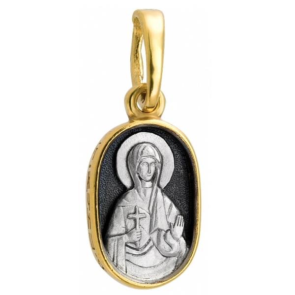 """Икона нательная из комбинированного золота """"Святая мученица Юлия"""""""