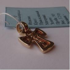 Эксклюзивный детский Православный крестик на крещение из желтого золота