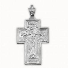 Крест Православный из белого золота