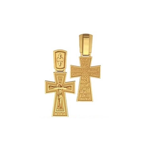 8534, Крест Православный из желтого золота, 7337, 20 000.00 р., 7337, , 3D Модели Православных нательных крестов