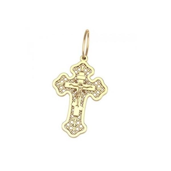 8536, Крест Православный из желтого золота, 7339, 20 000.00 р., 7339, , 3D Модели Православных нательных крестов