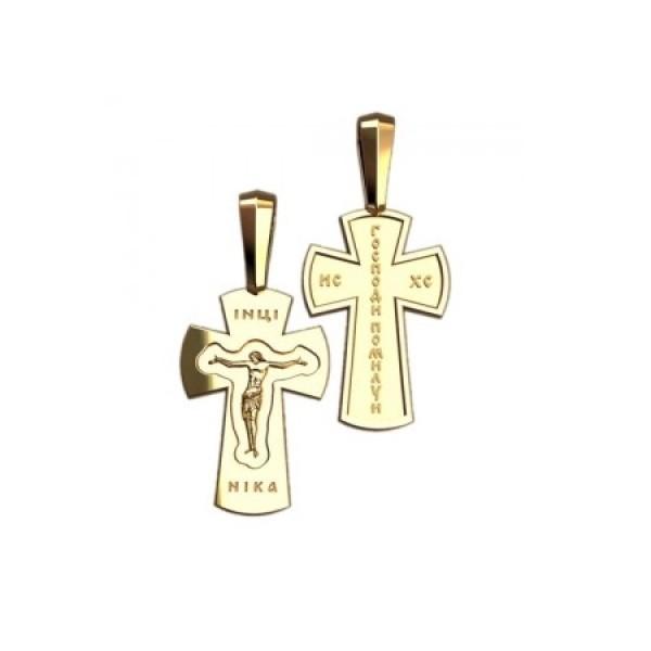 8538, Крест Православный из желтого золота, 7341, 25 000.00 р., 7341, , 3D Модели Православных нательных крестов