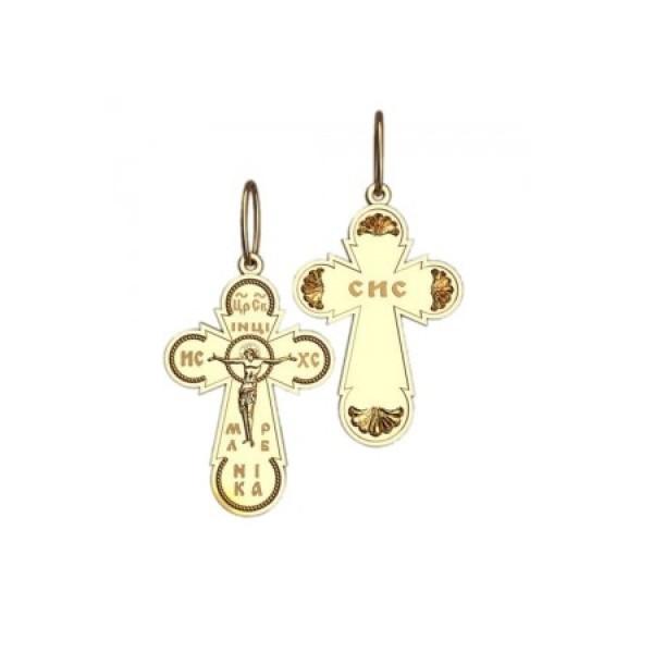 8539, Крест Православный из желтого золота, 7342, 25 000.00 р., 7342, , 3D Модели Православных нательных крестов