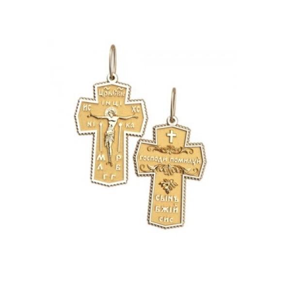 8540, Крест Православный из желтого золота, 7343, 27 000.00 р., 7343, , 3D Модели Православных нательных крестов