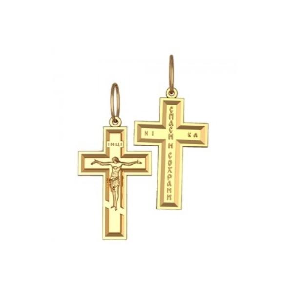 8541, Крест Православный из желтого золота, 7344, 20 000.00 р., 7344, , 3D Модели Православных нательных крестов