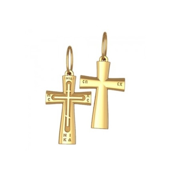 8542, Крест Православный из желтого золота, 7345, 20 000.00 р., 7345, , 3D Модели Православных нательных крестов
