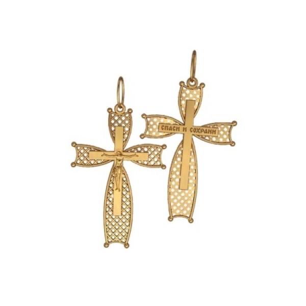 8543, Крест Православный из желтого золота, 7346, 23 000.00 р., 7346, , 3D Модели Православных нательных крестов