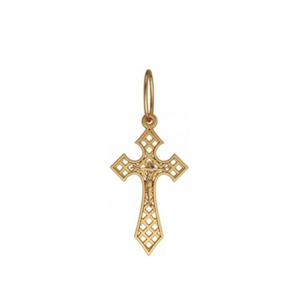 8544, Крест Православный из желтого золота, 7347, 20 000.00 р., 7347, , 3D Модели Православных нательных крестов