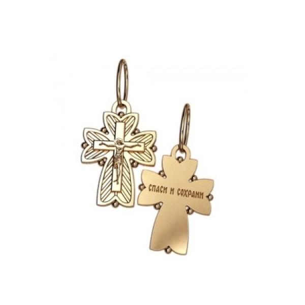 8545, Крест Православный из желтого золота, 7348, 27 000.00 р., 7348, , 3D Модели Православных нательных крестов