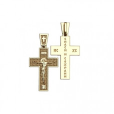Крест Православный из желтого золота