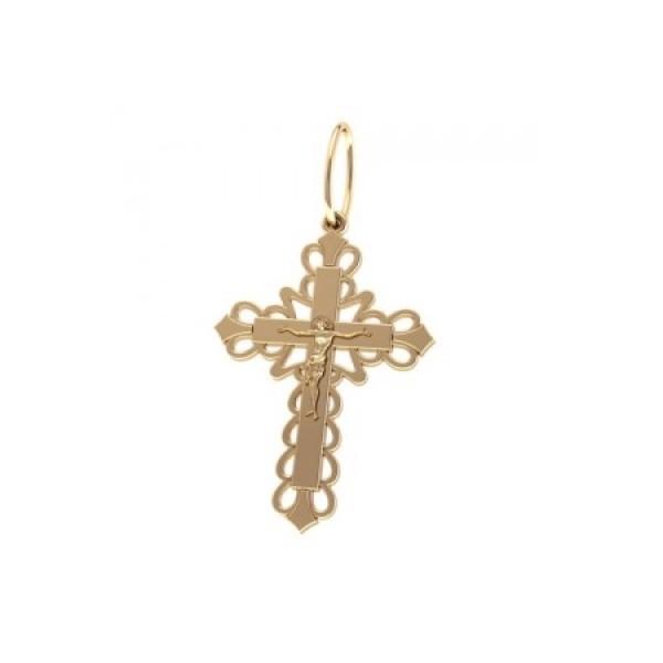8554, Крест Православный из желтого золота, 7371, 20 000.00 р., 7371, , 3D Модели Православных нательных крестов