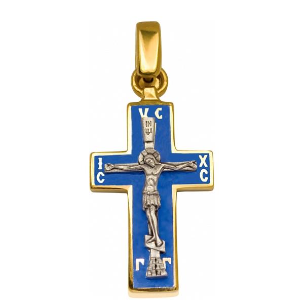 8620, Крест Православный из комбинированного золота с эмалью, 7457, 39 000.00 р., 7457, , 3D Модели Православных нательных крестов