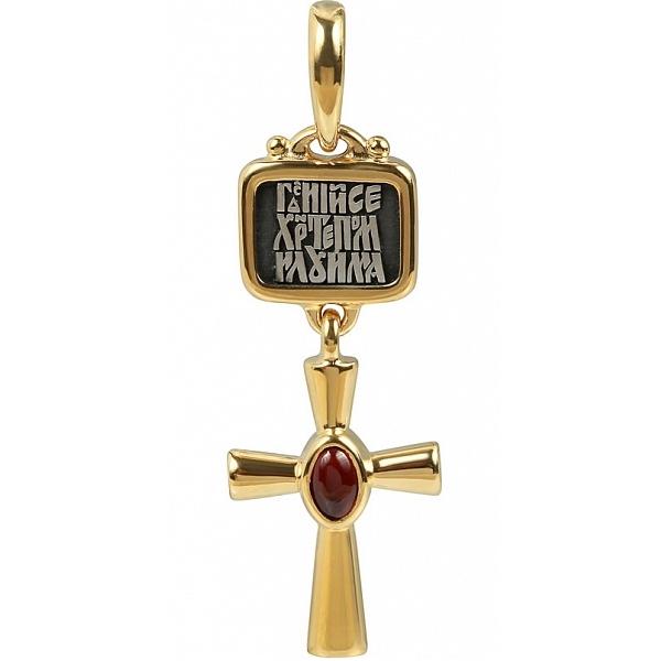 8646, Крест Православный из комбинированного золота с рубином, 7483, 38 080.00 р., 7483, , 3D Модели Православных нательных крестов