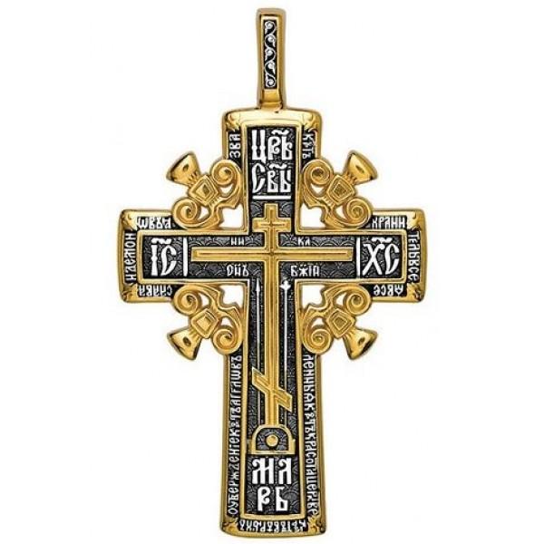 8489, Крест Православный из комбинированного золота, 2293, 70 000.00 р., 2293, , 3D Модели Православных нательных крестов