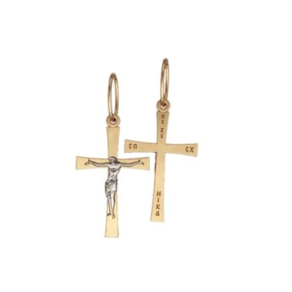 8548, Крест Православный из комбинированного золота, 7351, 18 000.00 р., 7351, , 3D Модели Православных нательных крестов
