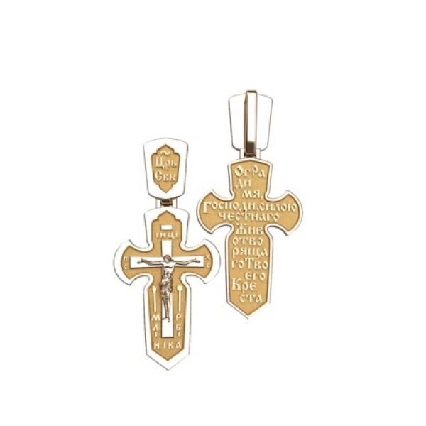 8549, Крест Православный из комбинированного золота, 7352, 29 000.00 р., 7352, , 3D Модели Православных нательных крестов