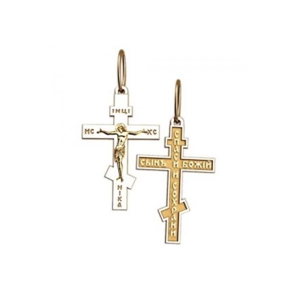 8550, Крест Православный из комбинированного золота, 7353, 22 000.00 р., 7353, , 3D Модели Православных нательных крестов