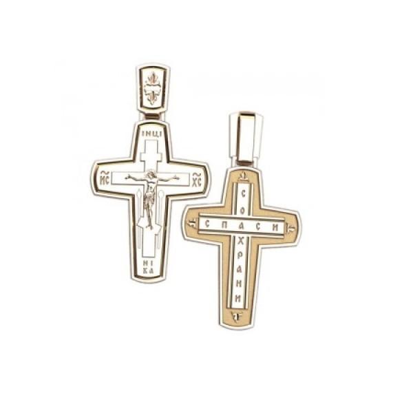 8551, Крест Православный из комбинированного золота, 7354, 25 000.00 р., 7354, , 3D Модели Православных нательных крестов