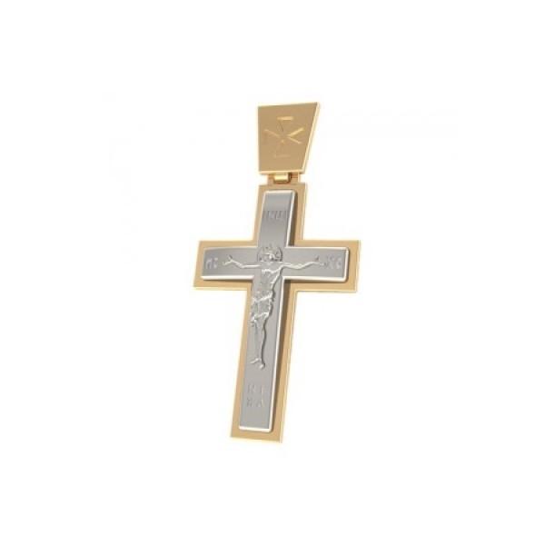 8552, Крест Православный из комбинированного золота, 7355, 27 000.00 р., 7355, , 3D Модели Православных нательных крестов