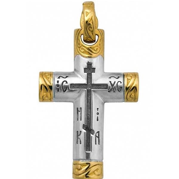 8576, Крест Православный из комбинированного золота, 7413, 41 000.00 р., 7413, , 3D Модели Православных нательных крестов