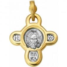 Крест Православный из комбинированного золота