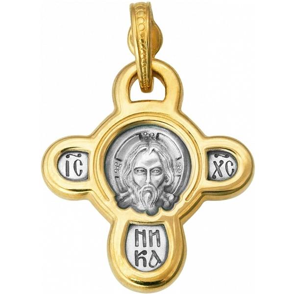 8582, Крест Православный из комбинированного золота, 7419, 49 000.00 р., 7419, , 3D Модели Православных нательных крестов