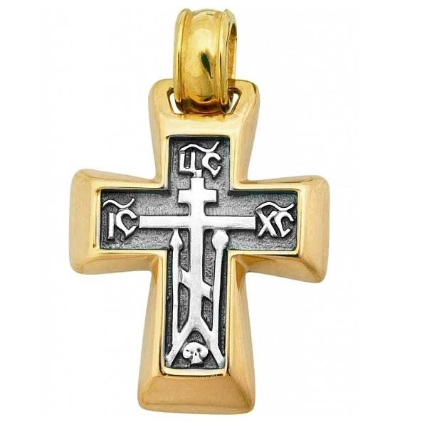 8583, Крест Православный из комбинированного золота, 7420, 51 000.00 р., 7420, , 3D Модели Православных нательных крестов