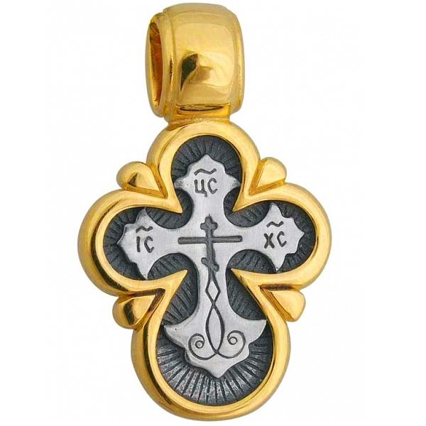 8584, Крест Православный из комбинированного золота, 7421, 34 000.00 р., 7421, , 3D Модели Православных нательных крестов