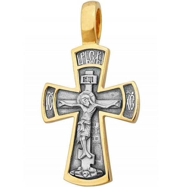 8585, Крест Православный из комбинированного золота, 7422, 53 000.00 р., 7422, , 3D Модели Православных нательных крестов