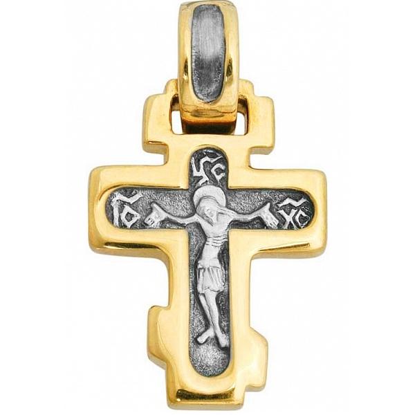 8586, Крест Православный из комбинированного золота, 7423, 34 000.00 р., 7423, , 3D Модели Православных нательных крестов