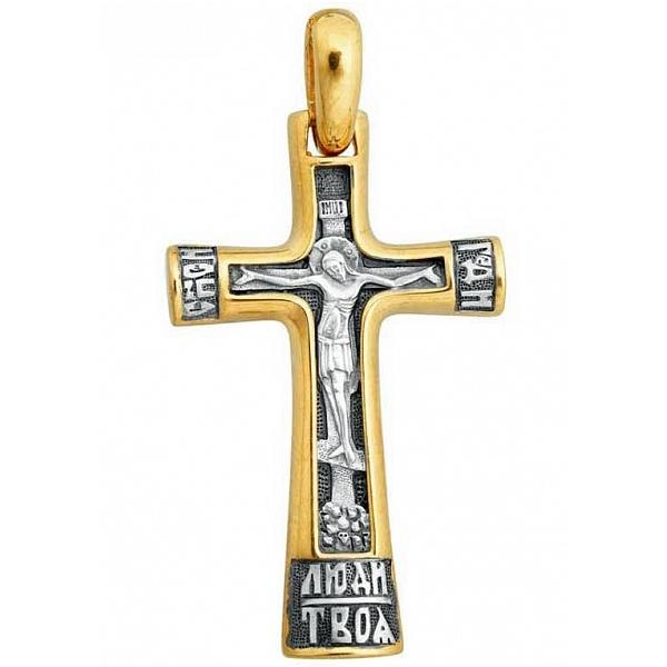 8587, Крест Православный из комбинированного золота, 7424, 39 000.00 р., 7424, , 3D Модели Православных нательных крестов