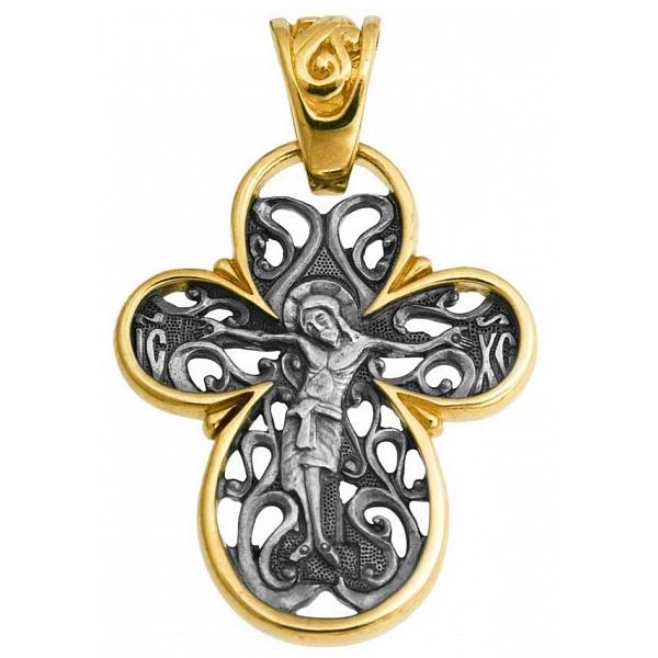 8588, Крест Православный из комбинированного золота, 7425, 29 000.00 р., 7425, , 3D Модели Православных нательных крестов