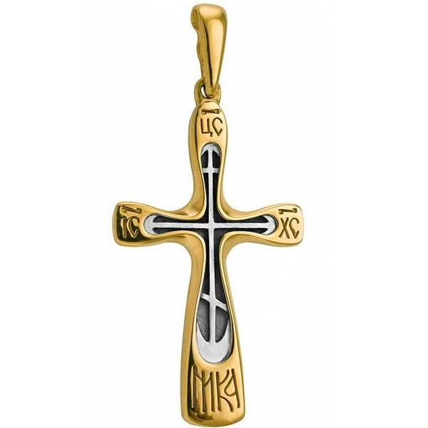 8594, Крест Православный из комбинированного золота, 7431, 27 000.00 р., 7431, , 3D Модели Православных нательных крестов