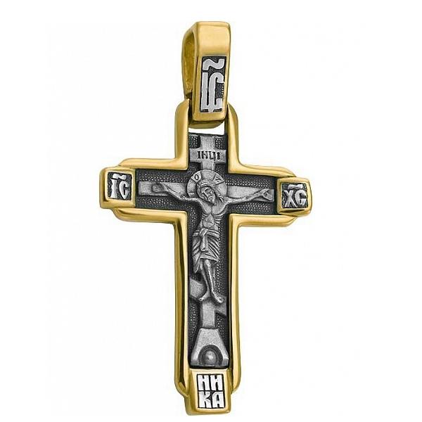 8596, Крест Православный из комбинированного золота, 7433, 51 000.00 р., 7433, , 3D Модели Православных нательных крестов