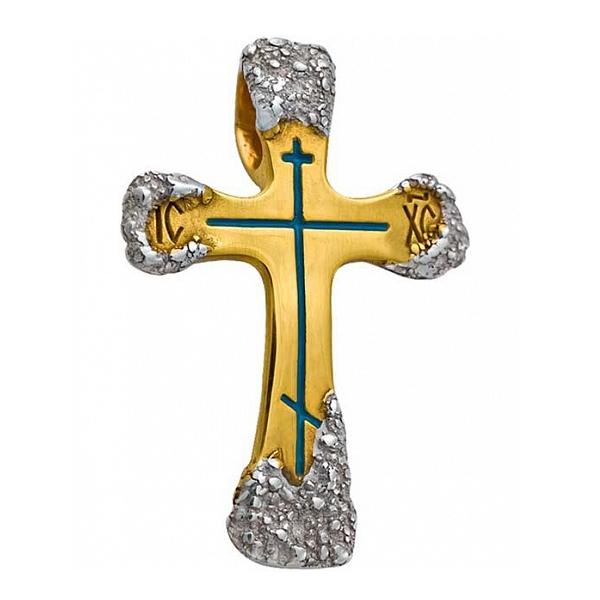 8597, Крест Православный из комбинированного золота, 7434, 27 000.00 р., 7434, , 3D Модели Православных нательных крестов