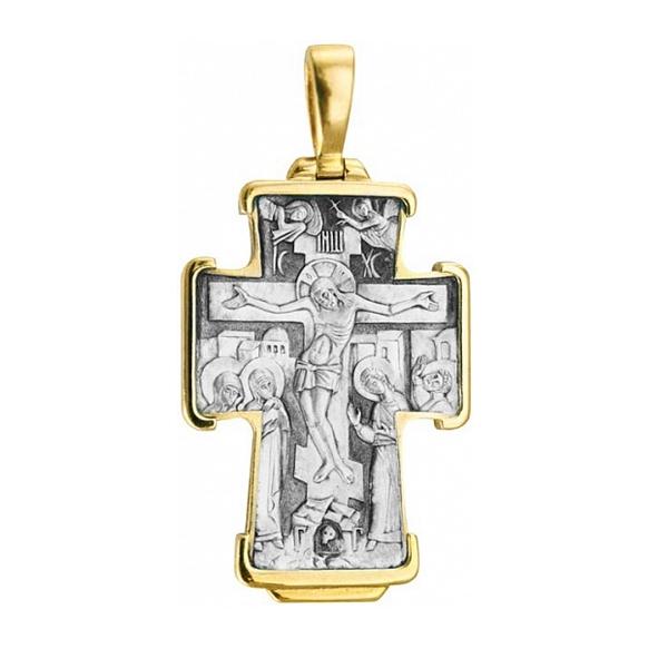 8603, Крест Православный из комбинированного золота, 7440, 89 000.00 р., 7440, , 3D Модели Православных нательных крестов