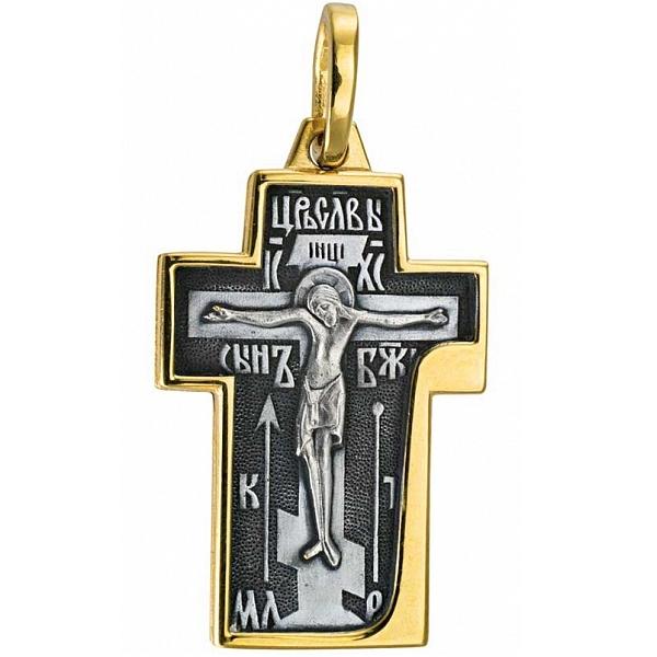 8604, Крест Православный из комбинированного золота, 7441, 78 000.00 р., 7441, , 3D Модели Православных нательных крестов