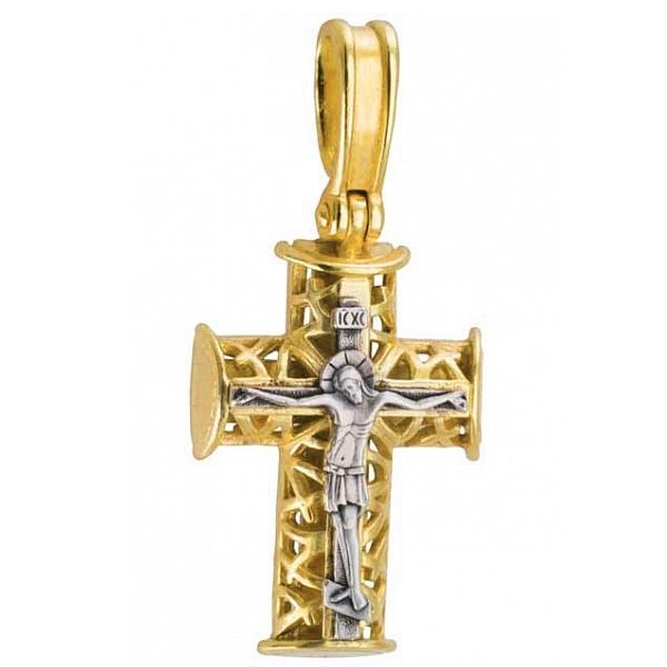 8606, Крест Православный из комбинированного золота, 7443, 34 000.00 р., 7443, , 3D Модели Православных нательных крестов