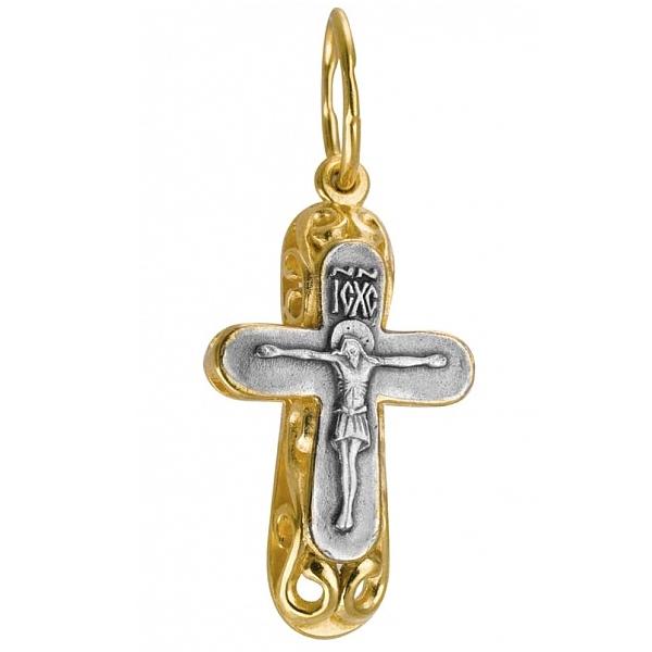 8607, Крест Православный из комбинированного золота, 7444, 24 000.00 р., 7444, , 3D Модели Православных нательных крестов