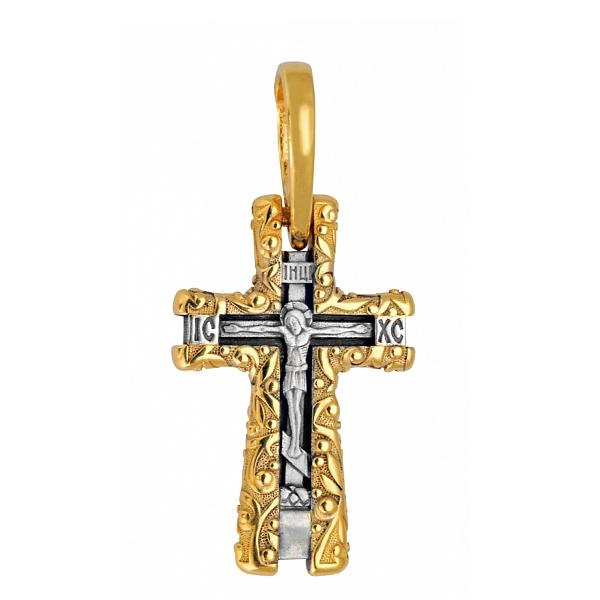 8608, Крест Православный из комбинированного золота, 7445, 43 000.00 р., 7445, , 3D Модели Православных нательных крестов