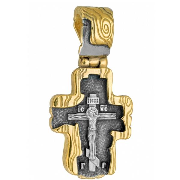 8609, Крест Православный из комбинированного золота, 7446, 53 000.00 р., 7446, , 3D Модели Православных нательных крестов
